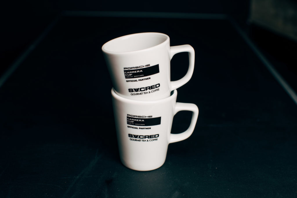 Set of 2 SACRED Special Edition 'Porsche Carrera Cup GB' Mugs