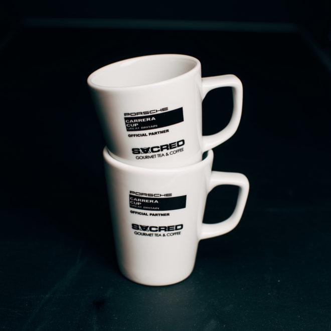 Set of 2 SACRED Special Edition 'Porsche Carrera Cup GB' Mugs